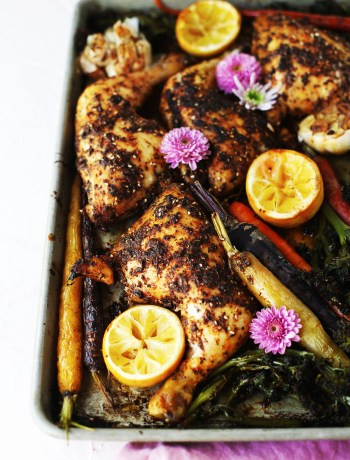 Rotisserie Style Sheet Pan Chicken