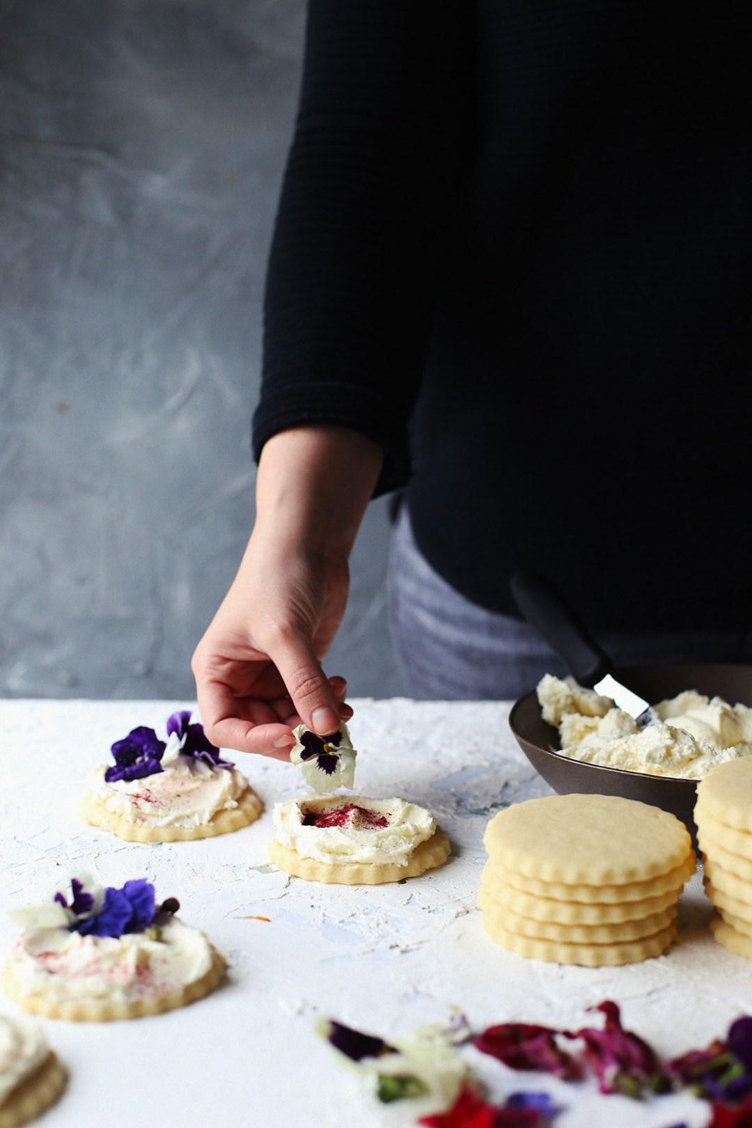 Almond Sugar Cookies with Sweetened Condensed Milk Frosting