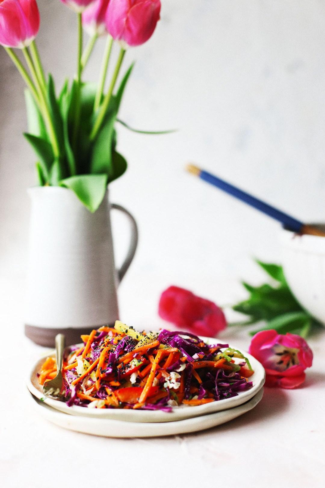 MangoTropical Rainbow Coleslaw