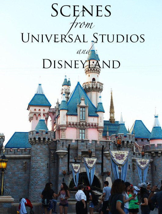 Scenes from Universal Studios Hollywood and Disneyland