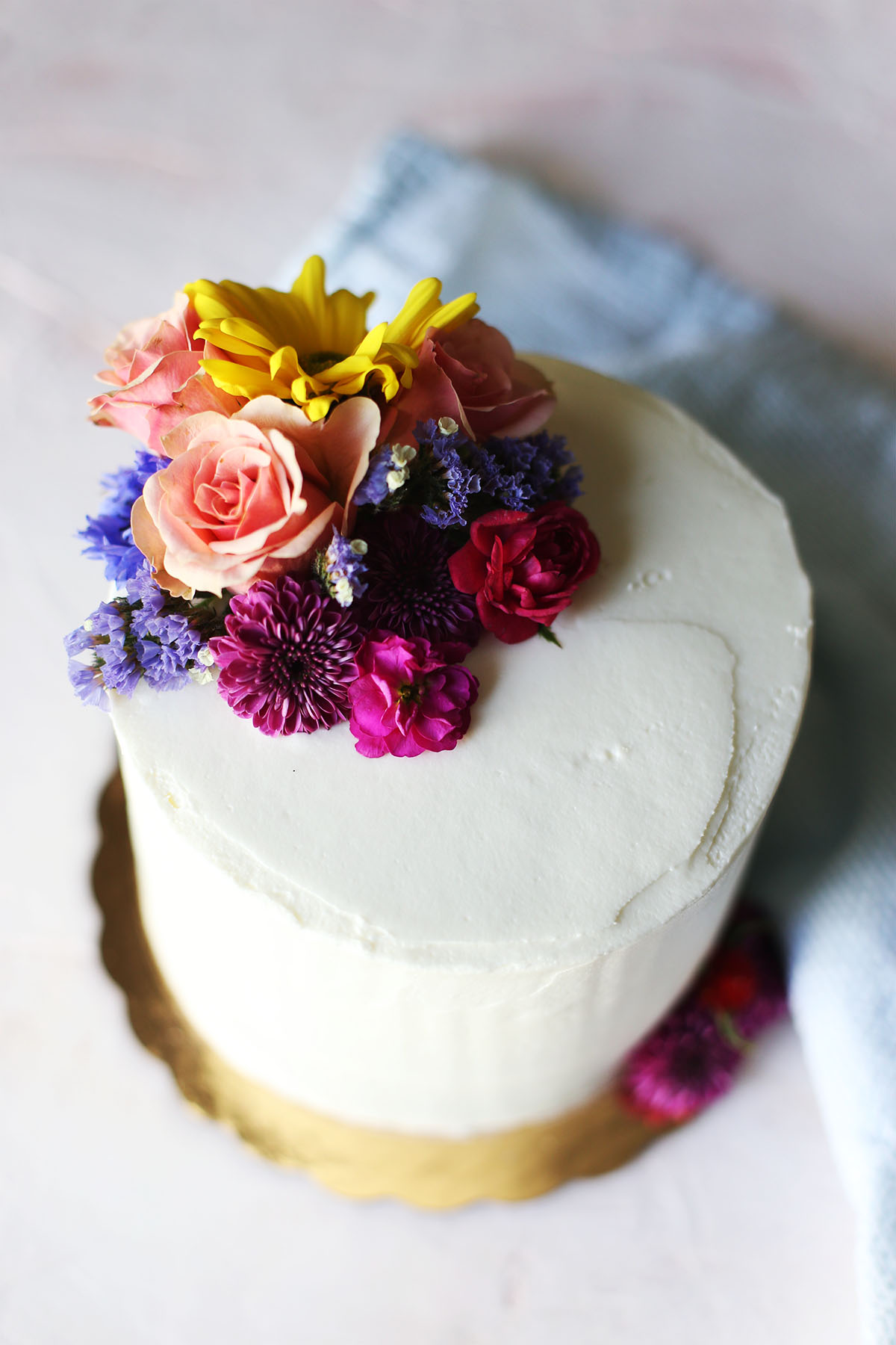 How To Decorate A Short Narrow Living Room: How To Decorate A Cake With Flowers