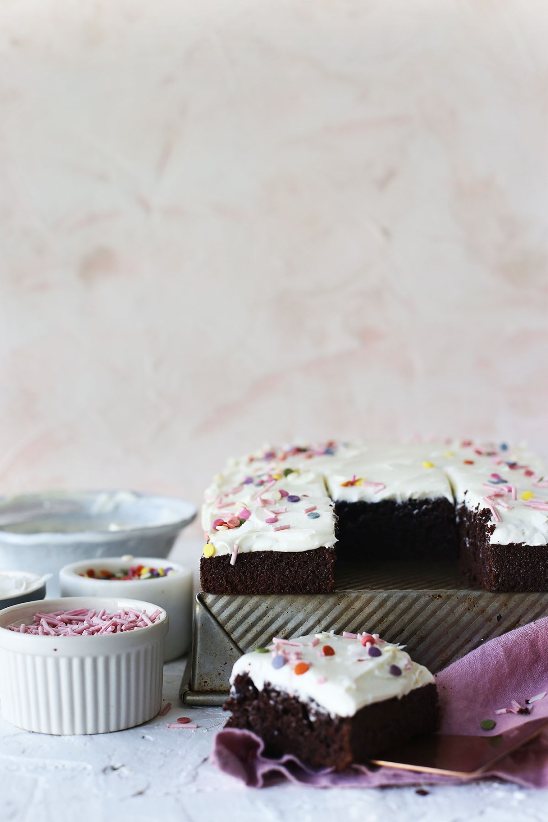 Chocolate Sheet Cake with Coconut Buttercream