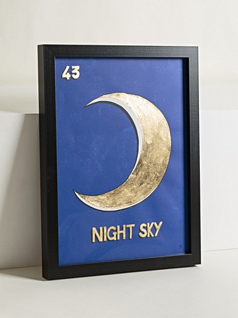 Night Sky Gold Foiled Wall Art
