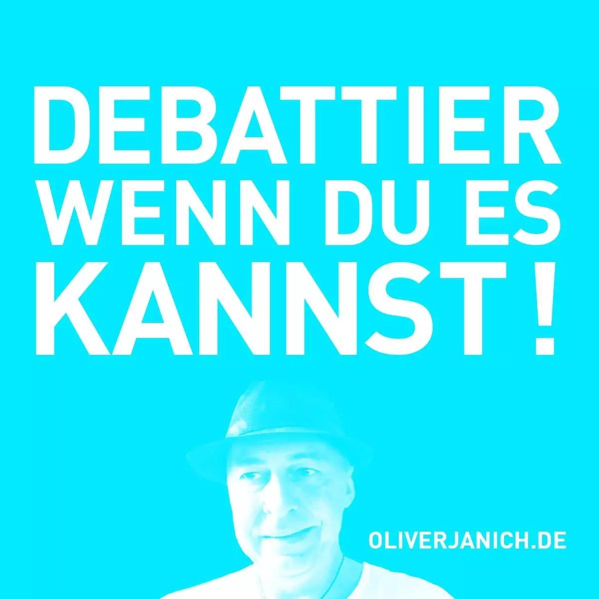 #OliWillReden Klimadebatte Oliver Janich Klimawandel #Rezo