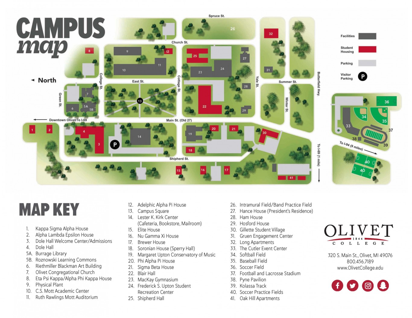 Maps Amp Directions Olivet College