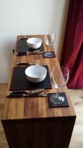 Suite features designer real wood furniture and oak flooring