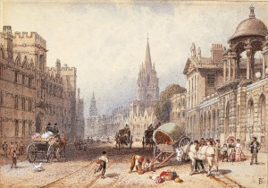 19th-century view of the High Street in Oxford
