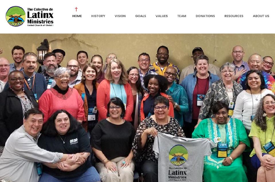 Preview del website del Colectivo UCC Latinx Ministries