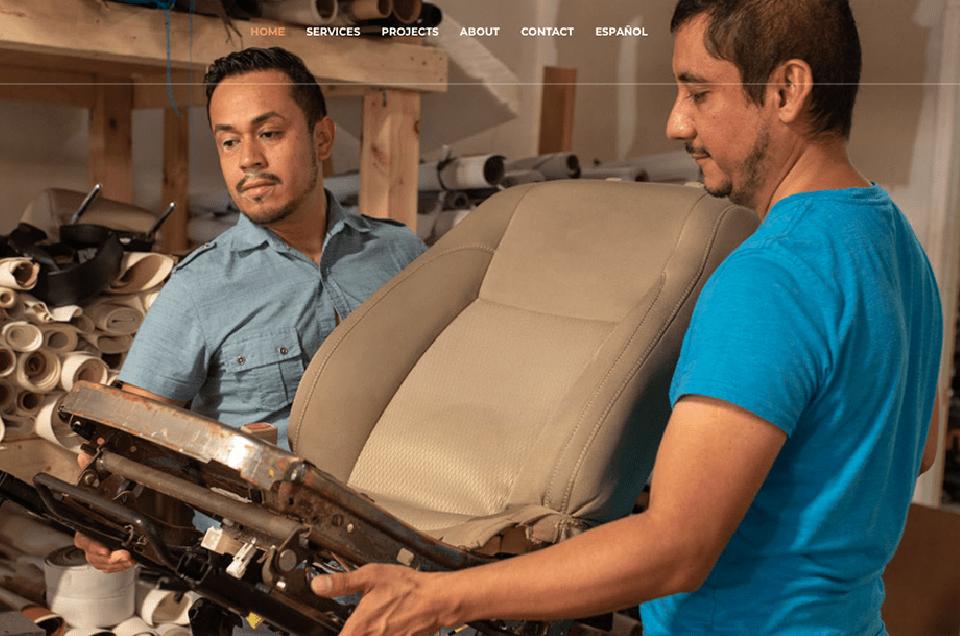Link al website de Mecha's Upholstery