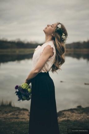 photographie couronne fleurs mariage