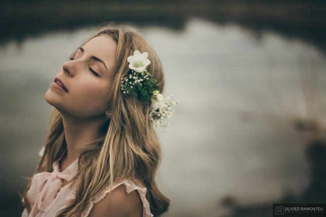 photographie couronne fleurs