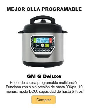 mejor olla programable GM G Deluxe