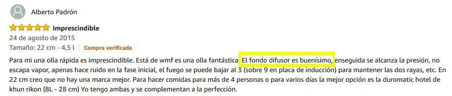 wmf perfect opiniones en Amazon