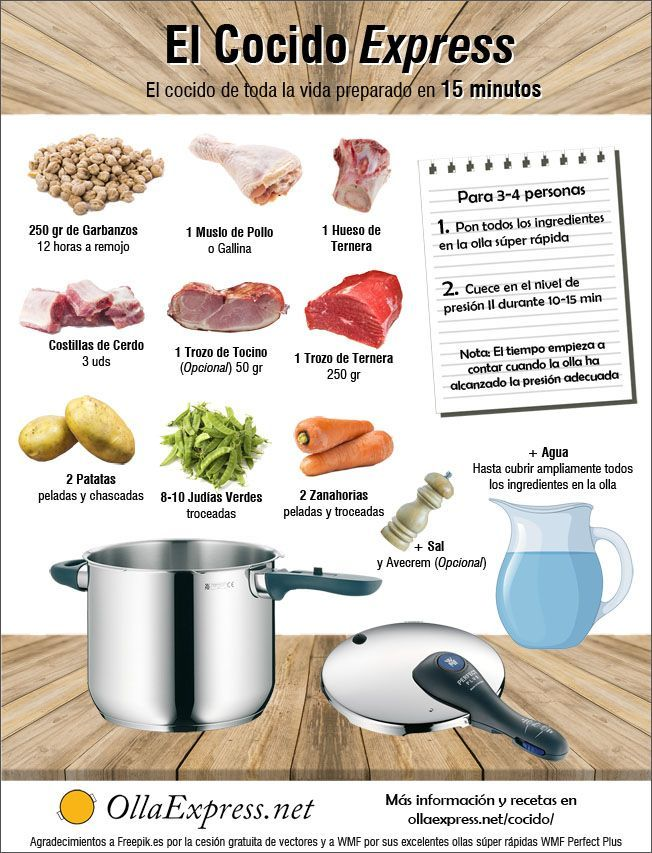El Cocido Express - El cocido de toda la vida preparado en 15 minutos