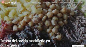 Cocido madrileño en olla express Clara Avila