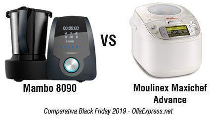Robot de cocina Mambo 8090 vs Moulinex Maxichef