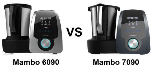 Mambo 6090 vs 7090 - comparativa robot cocina cecotec