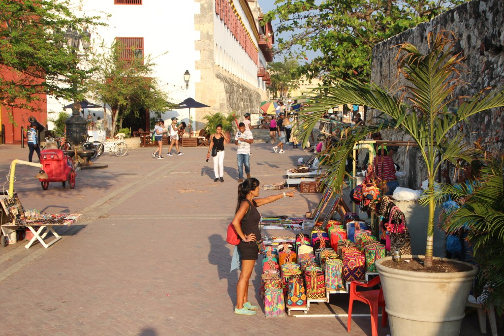 Shopping around the City Walls - Cartagena