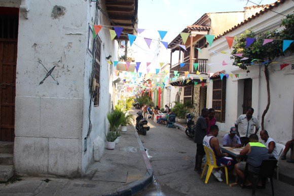 Locals playing domino in Getsmani - Cartagena