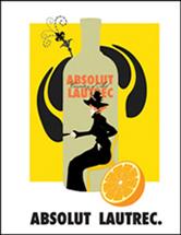 Absolut Lautrec ad no black border