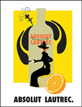 Absolut Lautrec ad no black border