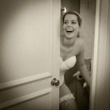 bride peeking