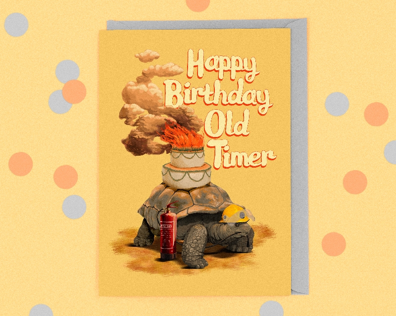 Happy Birthday Old Timer Buy Online Or Call 01382 220146