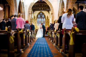 first kiss at a leicestershire wedding