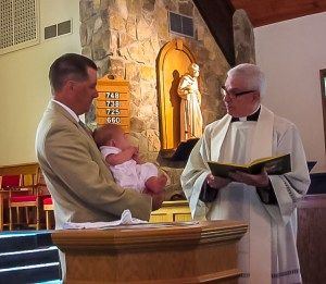 Fr. Tom Grizzell Baptism