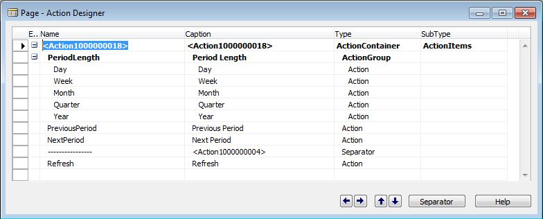 Page-Actions-Dynamics-NAV