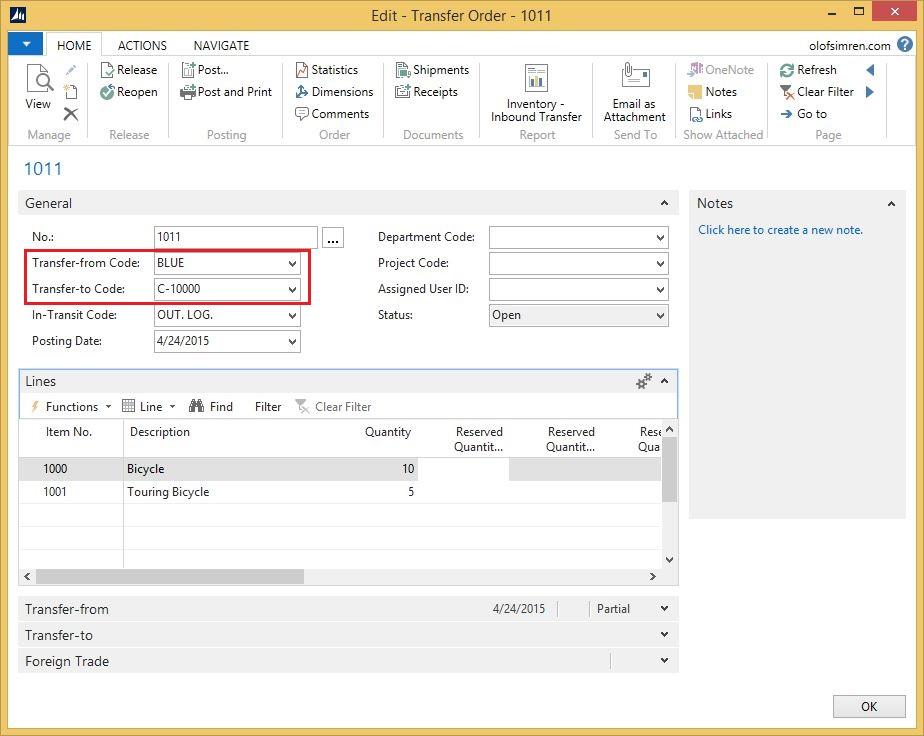 Transfer-Order-To-Customer-Location-Dynamics-NAV