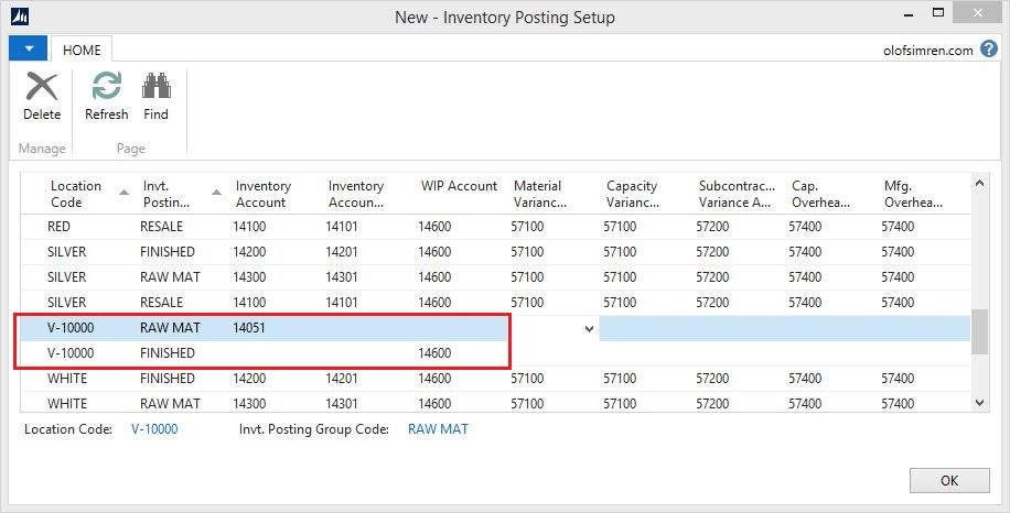 Vendor-Location-Inventory-Posting-Setup-Dynamics-NAV