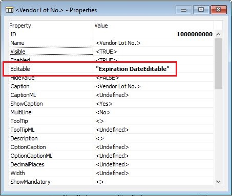 Editable-Property-On-Vendor-Lot-No-Dynamics-NAV