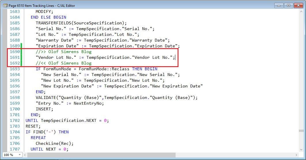 RegisterItemTrackingLines-Item-Tracking-Lines-Page-Dynamics-NAV