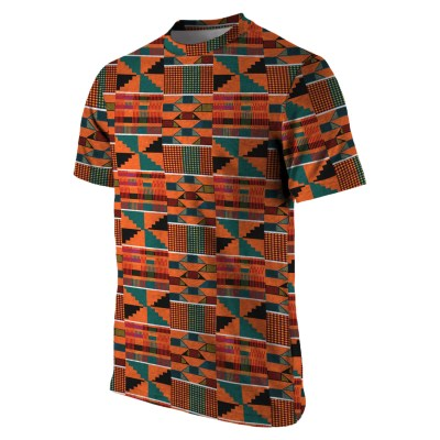 KENTE PRINT AFRICAN T-SHIRT