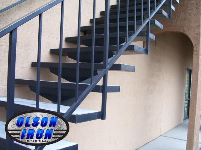 Iron Stairs Spirals Las Vegas Custom Wrought Iron Spiral | Cast Iron Straight Staircase | Raw Iron | Dark Stain | Handle | Luxury | Spindle
