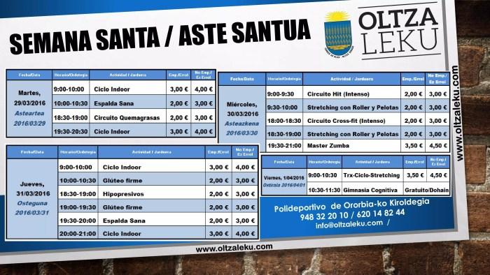 Semana Santa Polideportivo de Ororbia