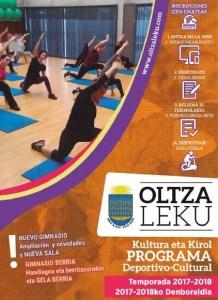 Portada programa 2017-18 Oltzaleku