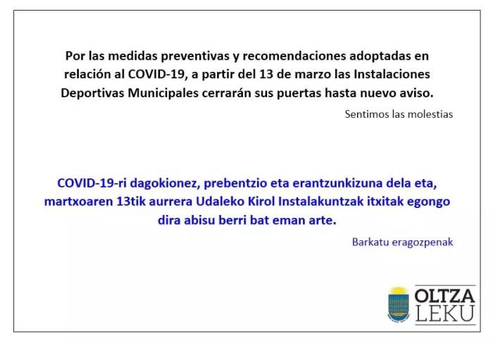 Aviso / Oharra