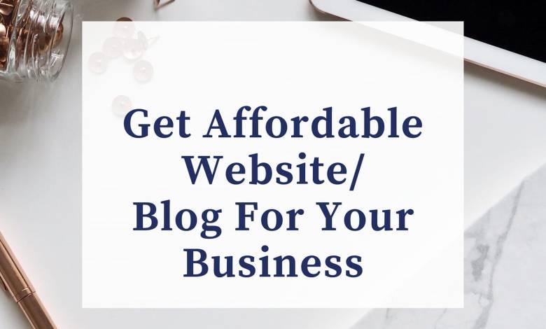 Blog Services - Get Affordable Website For Your Business