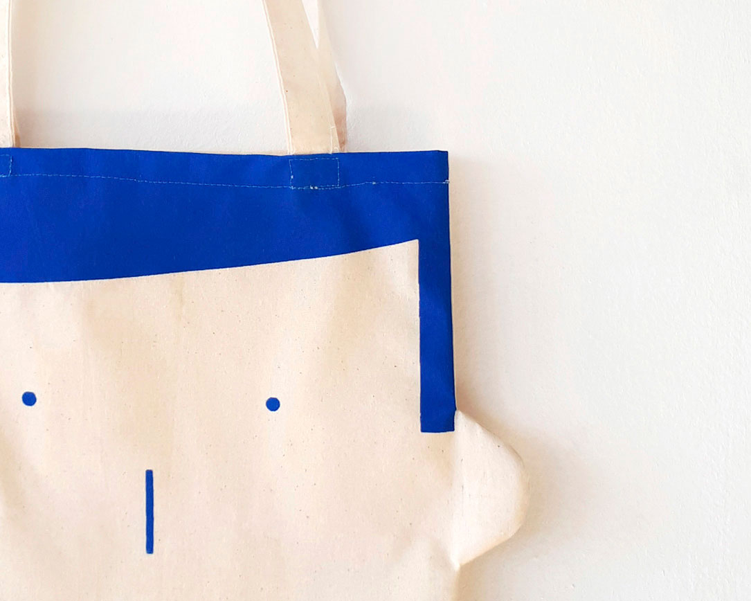 Canvas tote bag Sam in blue by Olula