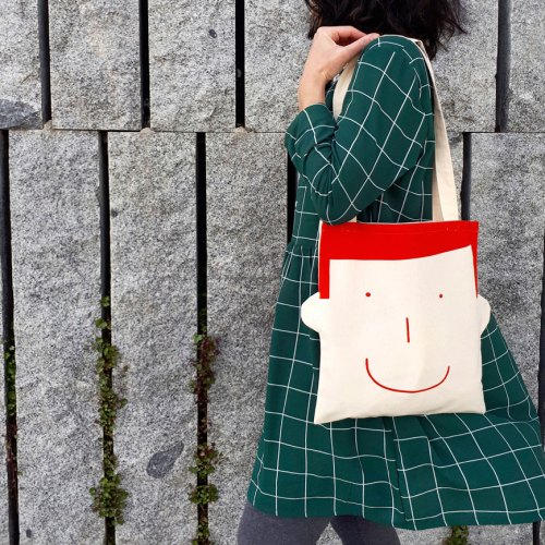 canvas bag sam in red