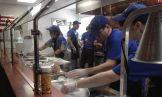 The team working hard opening week!!