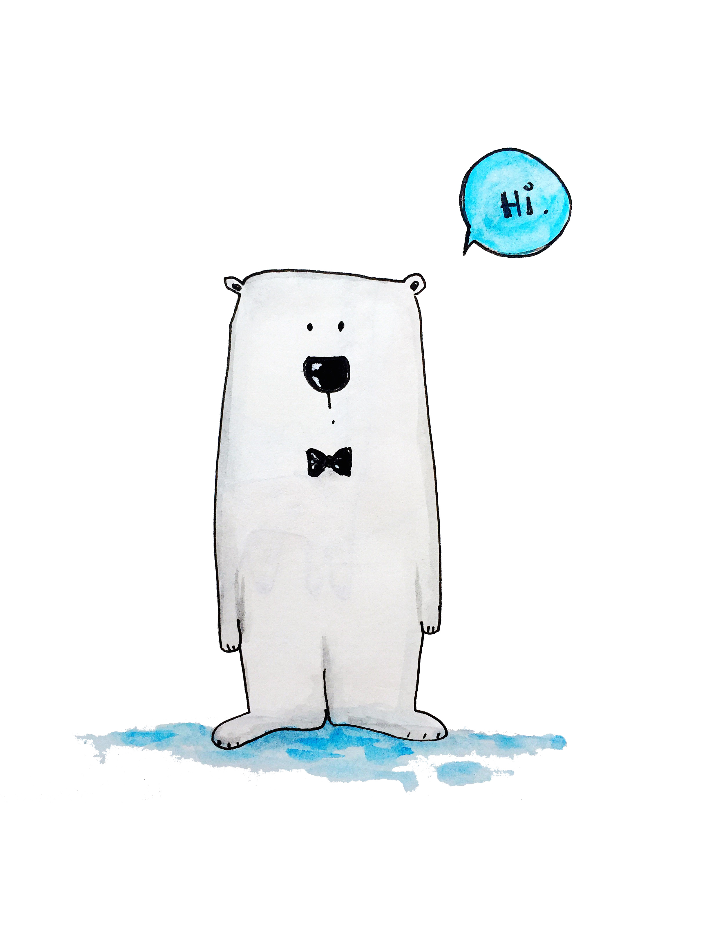 Polar Bear Printable Olya Schmidt