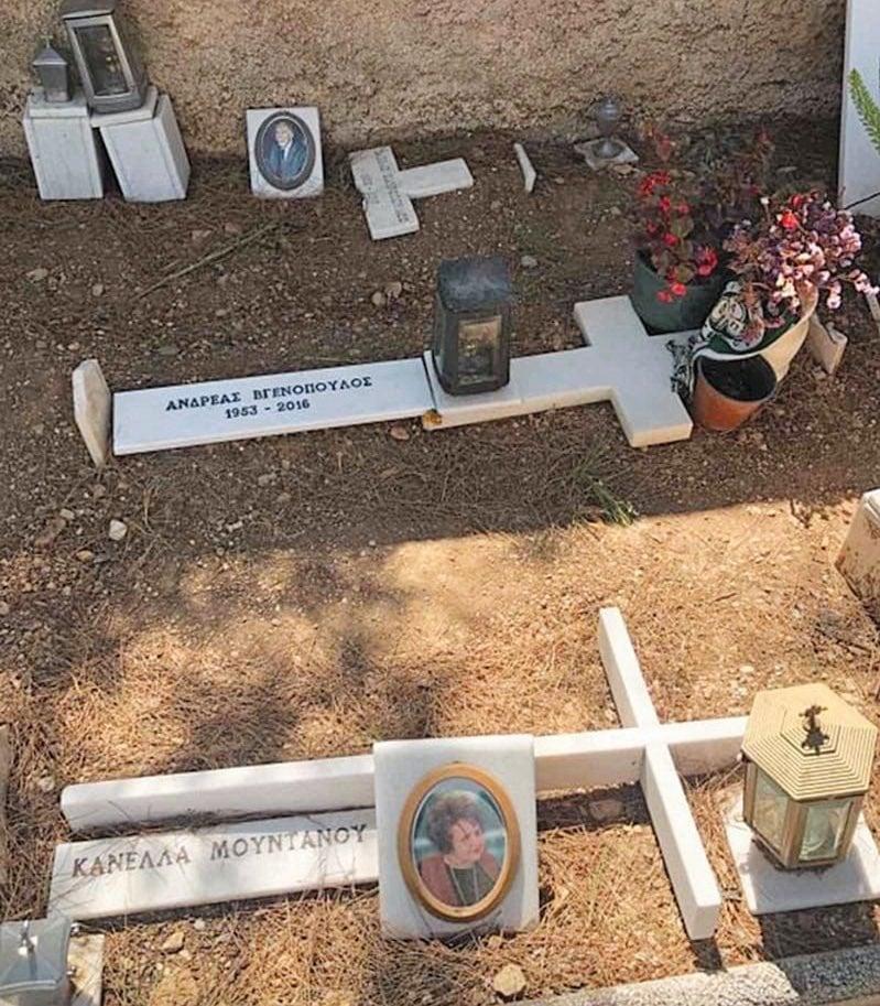 Η θλιβερή εικόνα του εγκαταλελειμμένου τάφου του Ανδρέα Βγενόπουλου