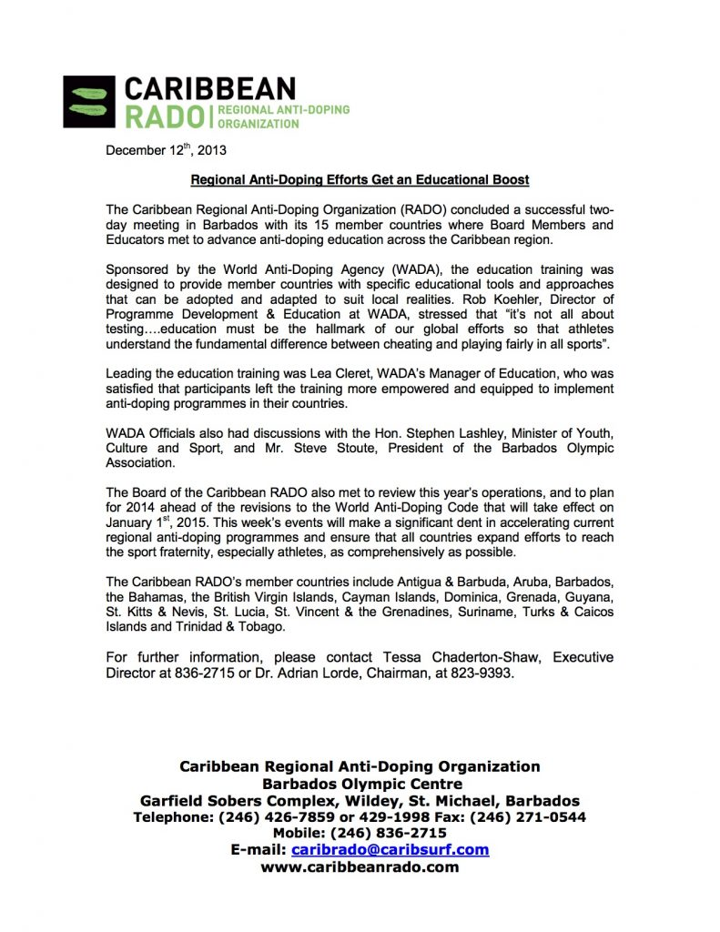 Press Release ( Education Training  Board Meeting)