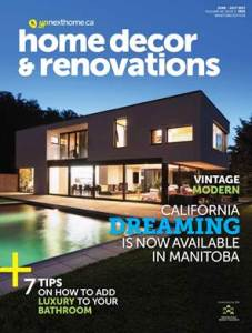 Cover of June July Edition of Renovation Magazine