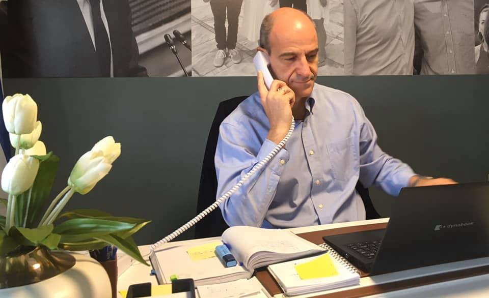 Μπαραλιάκος | Τηλεφωνική επικοινωνία με Μενδώνη