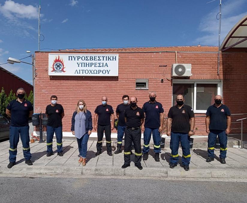 Μάνη | Επίσκεψη στην Πυροσβεστική Υπηρεσία Λιτοχώρου και το Πυροσβεστικό Κλιμάκιο Λεπτοκαρυάς