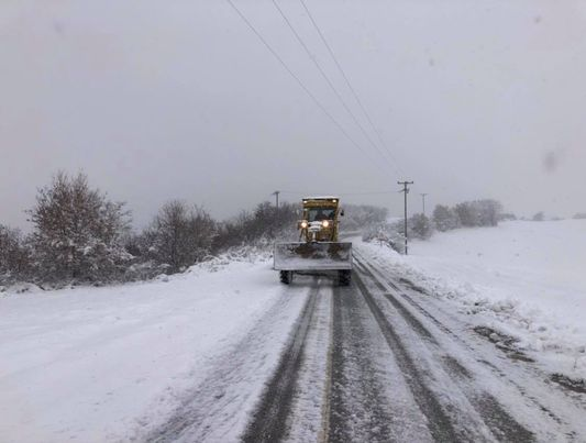 Αντιμετώπιση της χιονόπτωσης στο Δήμο Πύδνας-Κολινδρού